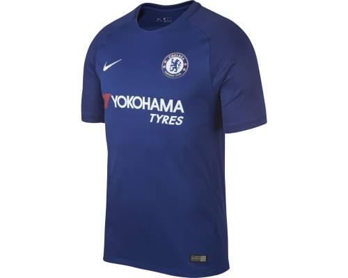 Maillot Nike Chelsea Domicile 2017-18 Bleu Rush