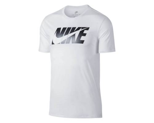 T-shirt Nike Big Logo Metal Blanc