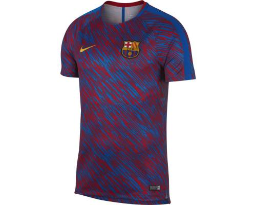 Maillot Nike Barcelone Dry Squad 2017-18 Bleu / Rouge / Or
