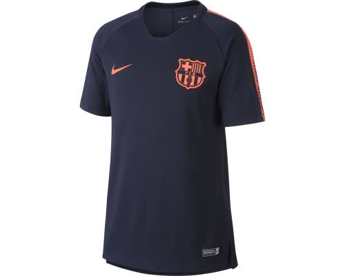 Maillot Nike Barcelone Breathe Squad 2017-18 Obsidienne / Cramoisi