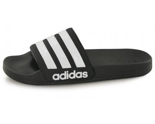 Claquettes Adidas Cloudfoam Adilette Noir / Blanc
