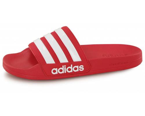 Claquettes Adidas Cloudfoam Adilette Rouge / Blanc