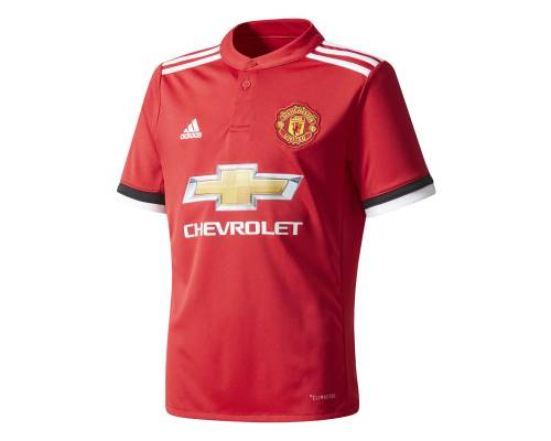 Maillot Adidas Manchester United Domicile 2017-18 Rouge