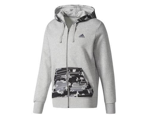 Veste Adidas Essentials Camo Hood Gris
