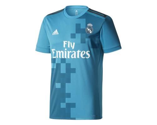 Maillot Adidas Real Madrid Third 2017-18 Bleu