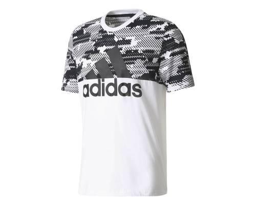 T-shirt Adidas Essentials Camo Blanc / Noir