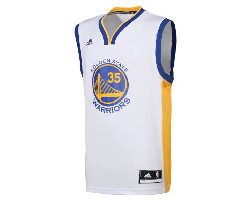 Maillot Adidas Golden State Kevin Durant Blanc