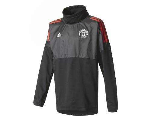 Training top Adidas Manchester United 2017-18 Noir / Rouge