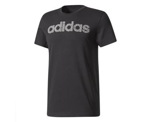 T-shirt Adidas Linear Knitted Noir