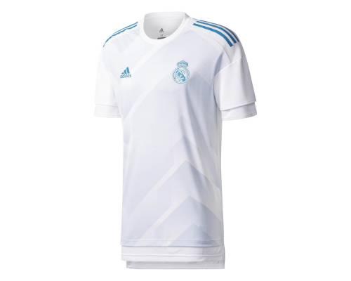 Maillot Adidas Real Madrid  Preshirt 2017-18 Blanc