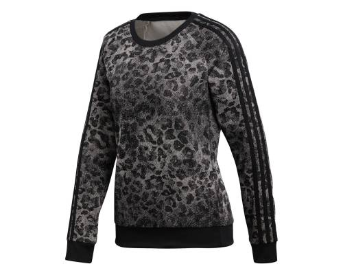 Sweat Adidas Essentials All Over Printed Gris / Noir
