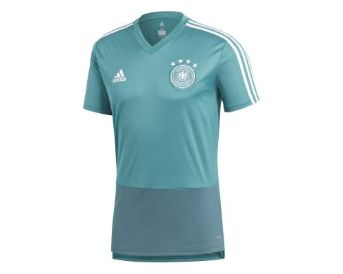 Maillot Adidas Allemagne Training Jersey Vert / Blanc