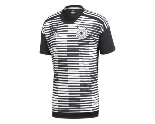 Maillot Adidas Allemagne Preshirt Blanc / Noir