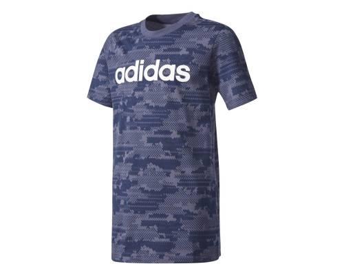 T-shirt Adidas Linear Bleu