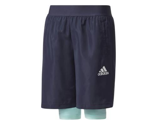 Short Adidas 2in1 Woven Bleu