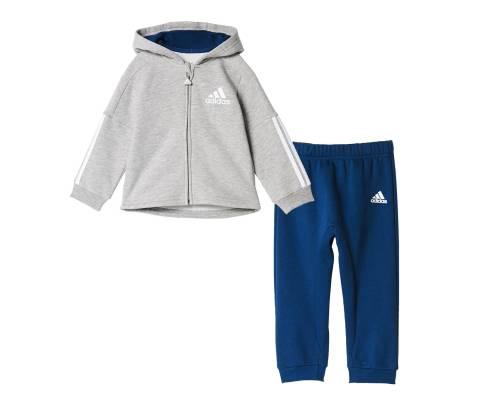 Survêtement Adidas Fz Hooded Jogger Gris / Bleu