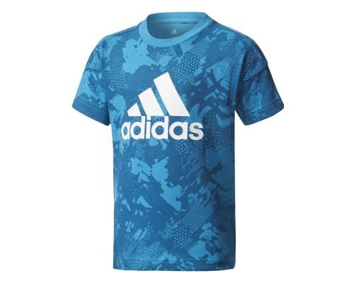T-shirt Adidas Logo Camo Bleu