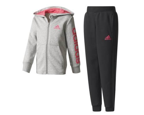 Survêtement Adidas Surv Essentials Hojo Gris / Rose / Noir