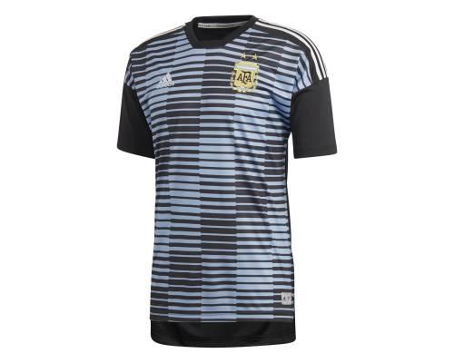 Maillot Adidas Argentine Preshirt Bleu / Noir