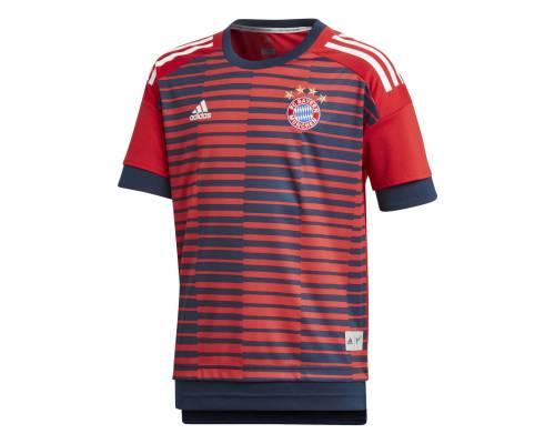 Maillot Adidas Bayern Munich Preshirt 2017/18 Rouge / Marine