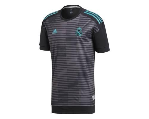 Maillot Adidas Real Madrid Preshirt 2017/18 Noir / Granite