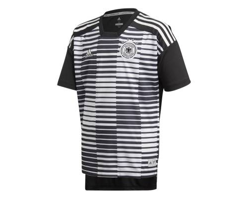 Maillot Adidas Allemagne Preshirt Noir / Blanc