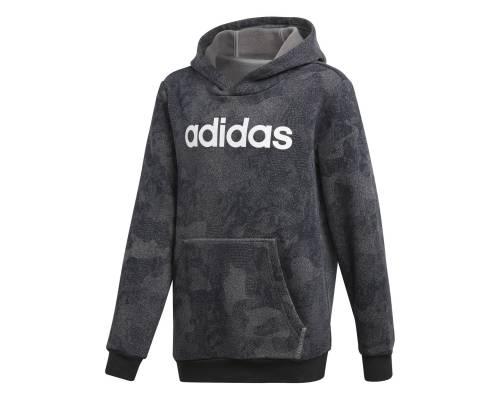 Sweat Adidas Linear Hoodie Gris