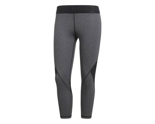 Collants Adidas Alphaskin Sport 3/4 Gris / Noir