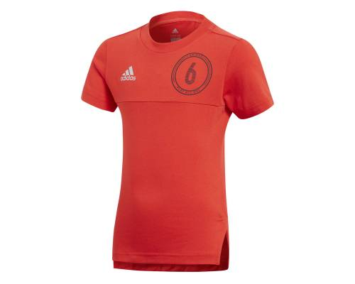 T-shirt Adidas Cotton Play All Day Rouge