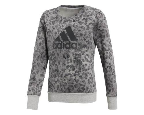 Sweat Adidas Essentials All Over Printed Gris