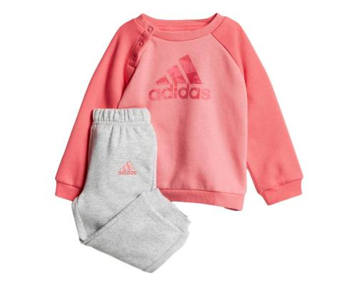 Survêtement Adidas Logo Jogger Rose/ Gris