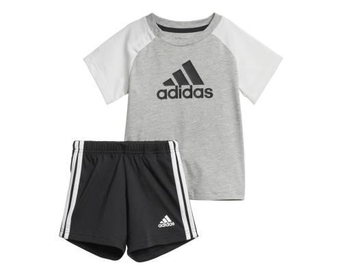 Ensemble Adidas Bb Summer Set Gris / Blanc / Noir