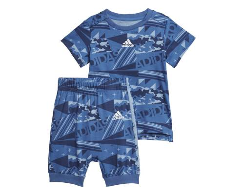 Ensemble Adidas Bb Set Print Bleu