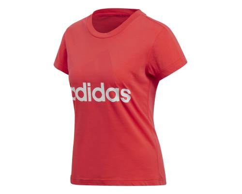 T-shirt Adidas Essentials Linear Slim Rouge