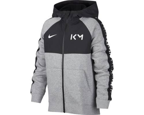 Veste Nike Kylian Mbappe Gris Noir Enfant