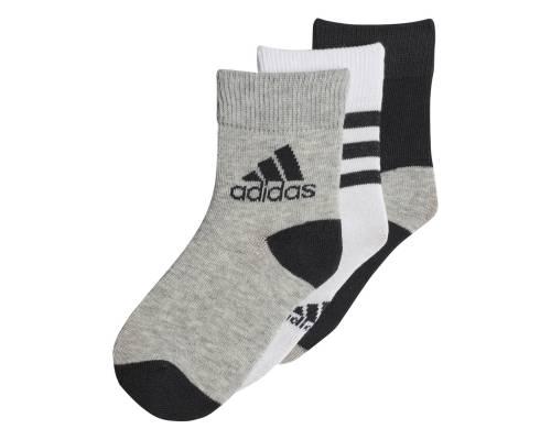 Chaussettes Adidas Ankle S 3 Paires Gris / Blanc / Noir