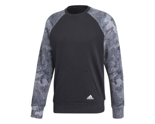 Sweat Adidas Essential Camo Noir / Gris