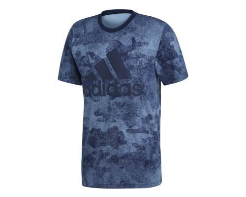 T-shirt Adidas Essential Camo Bleu