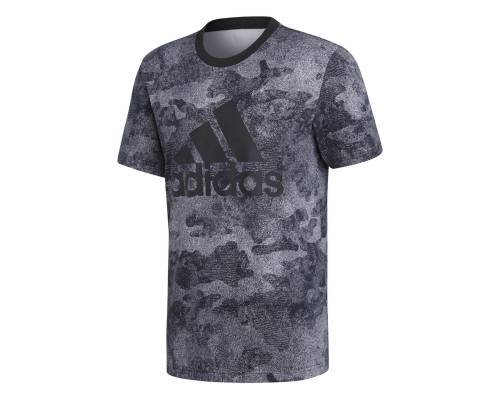 T-shirt Adidas Essential Camo Noir / Gris