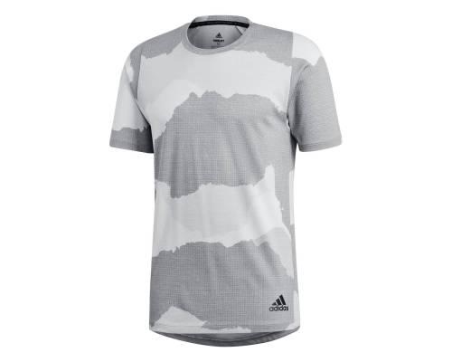 T-shirt Adidas Freelift Tech Camouflage Graphic Gris / Blanc