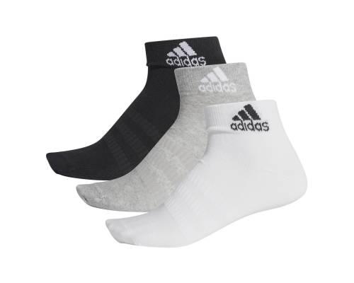 Chaussettes Adidas Light Ankle 3 Paires Noir / Gris / Blanc