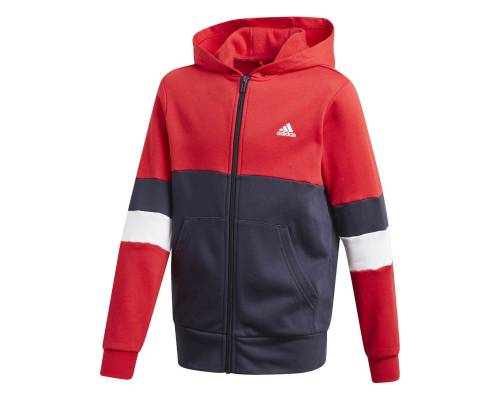 Veste Adidas Linear Colorblock Rouge / Bleu Enfant