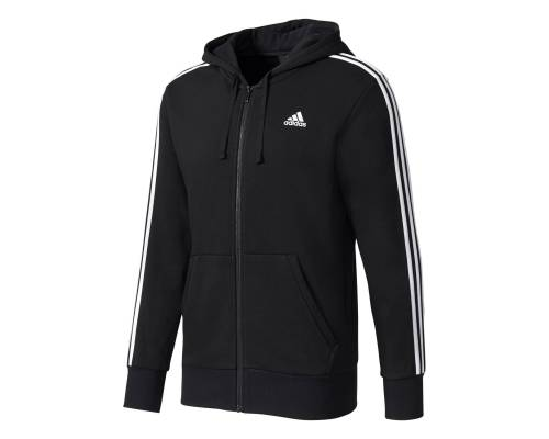 Veste Adidas Essentials 3s Fz Hood French Terry Noir