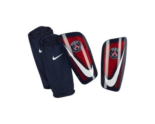 Protège tibias Nike Mercurial Lite Psg Bleu & Rouge