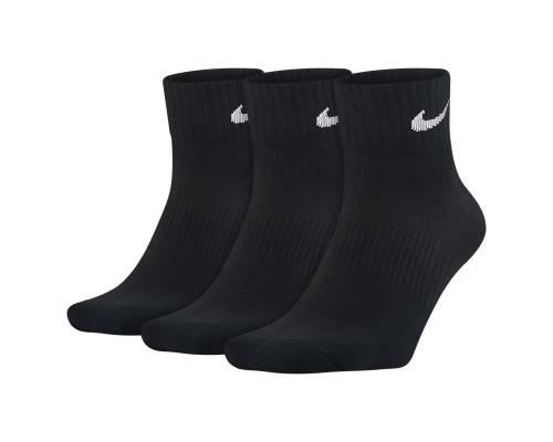 Chaussettes Nike Lightweight Quarter 3 Paires Noir