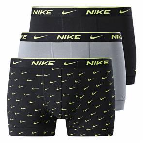Boxer Nike Underwear Everyday Cotton Stretch Noir / Gris / Jaune