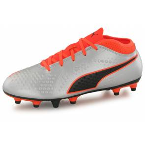 Puma One 4 Syn Fg Argent / Orange Junior