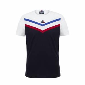 T-shirt Le Coq Sportif Tricolore Bleu Marine / Blanc Enfant