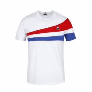 T-shirt Le Coq Sportif Tricolore Blanc