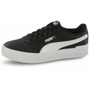 Puma Carina Leather Noir / Blanc Enfant